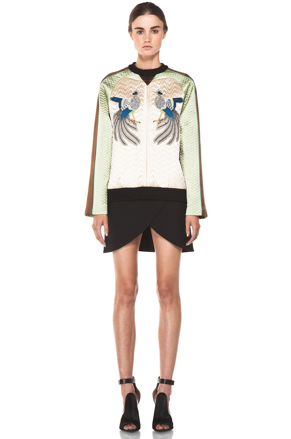 Image 5 of Proenza Schouler Quilted Bird Silk Sweatshirt in Bone