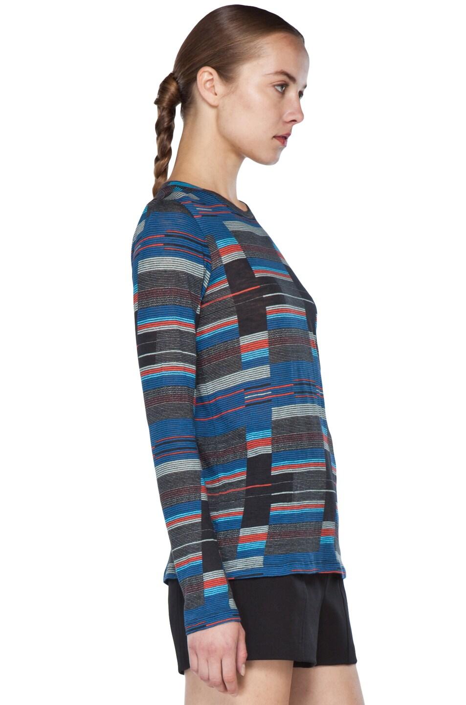 Image 3 of Proenza Schouler Long Sleeve T Shirt in Navy Stripe