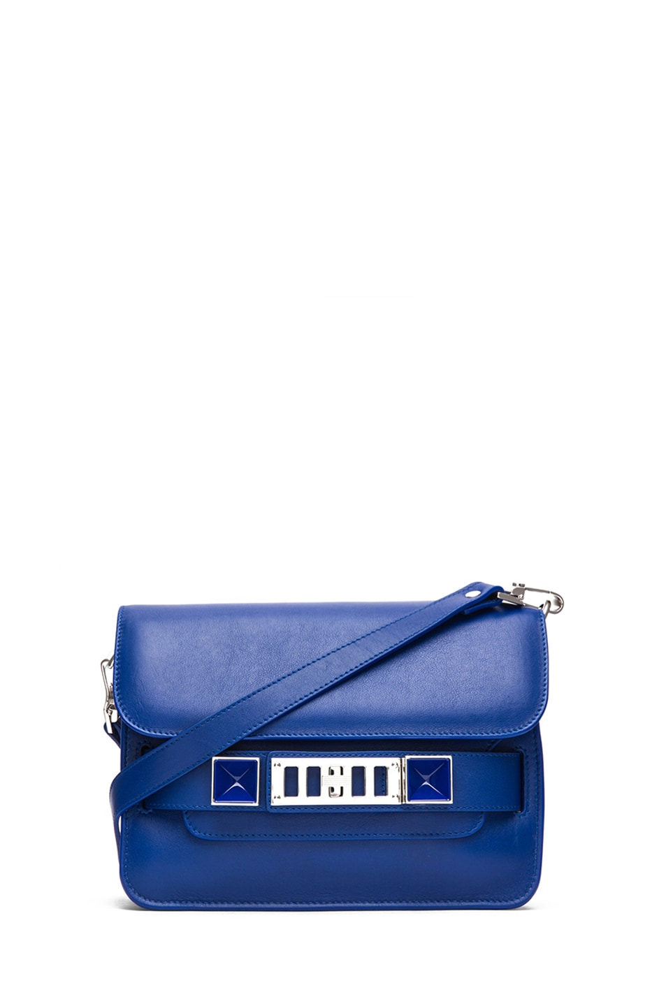 Image 1 of Proenza Schouler Mini PS11 Classic Smooth Leather Shoulder Bag in Royal Blue
