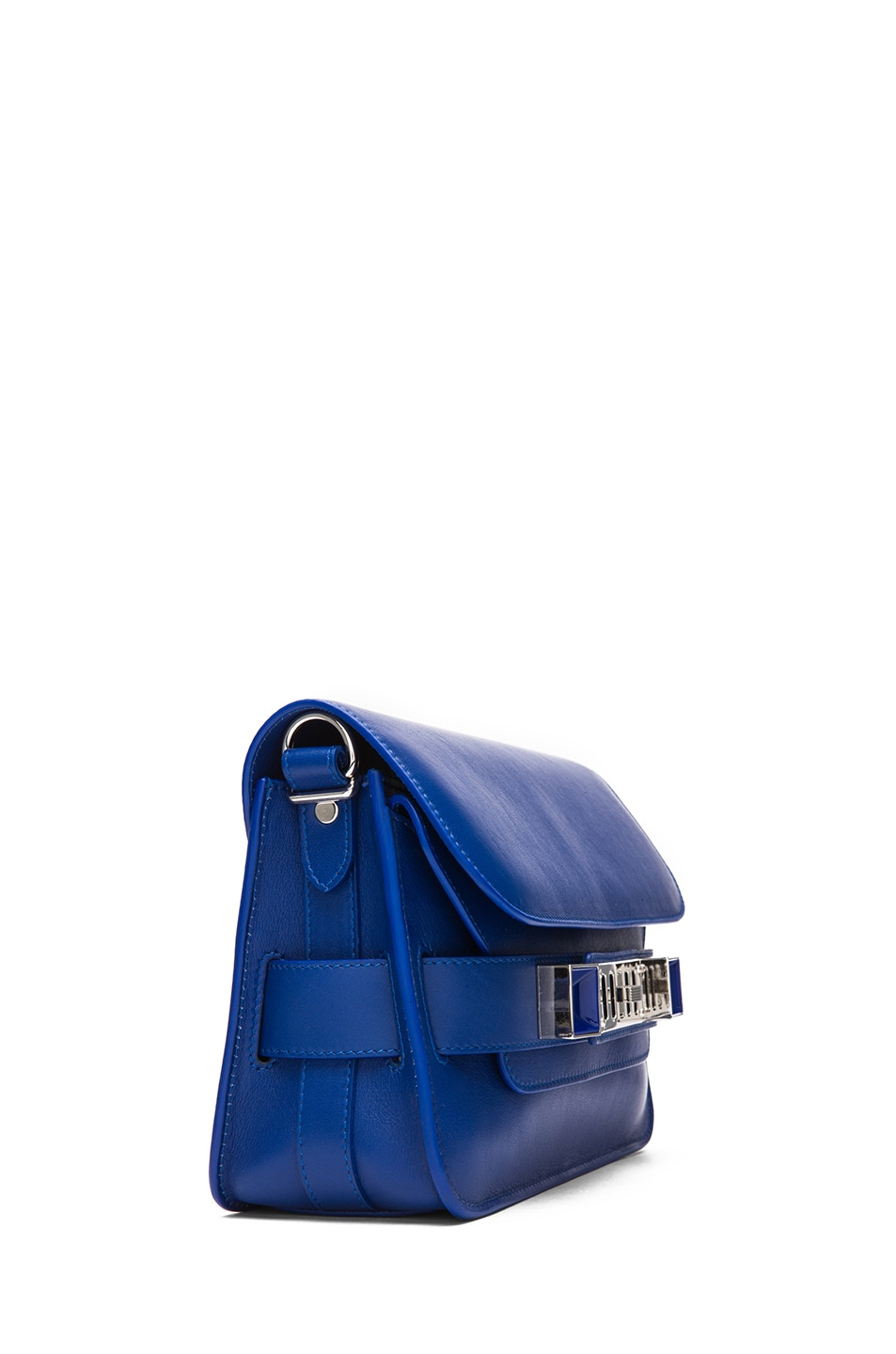 Image 3 of Proenza Schouler Mini PS11 Classic Smooth Leather Shoulder Bag in Royal Blue