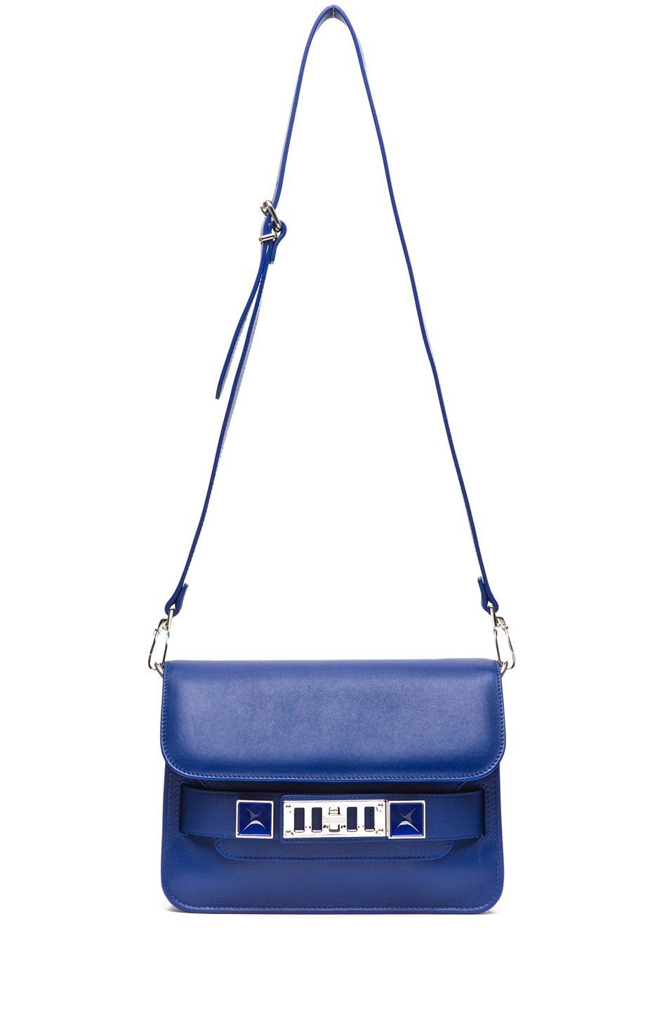Image 5 of Proenza Schouler Mini PS11 Classic Smooth Leather Shoulder Bag in Royal Blue