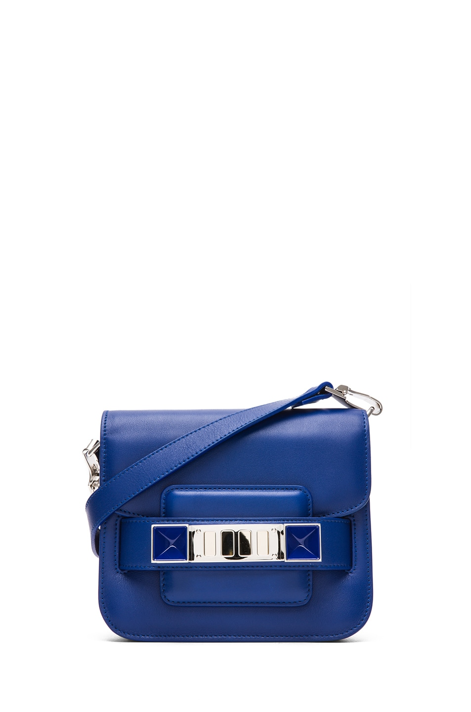 Image 1 of Proenza Schouler Tiny PS11 Smooth Leather Shoulder Bag in Royal Blue