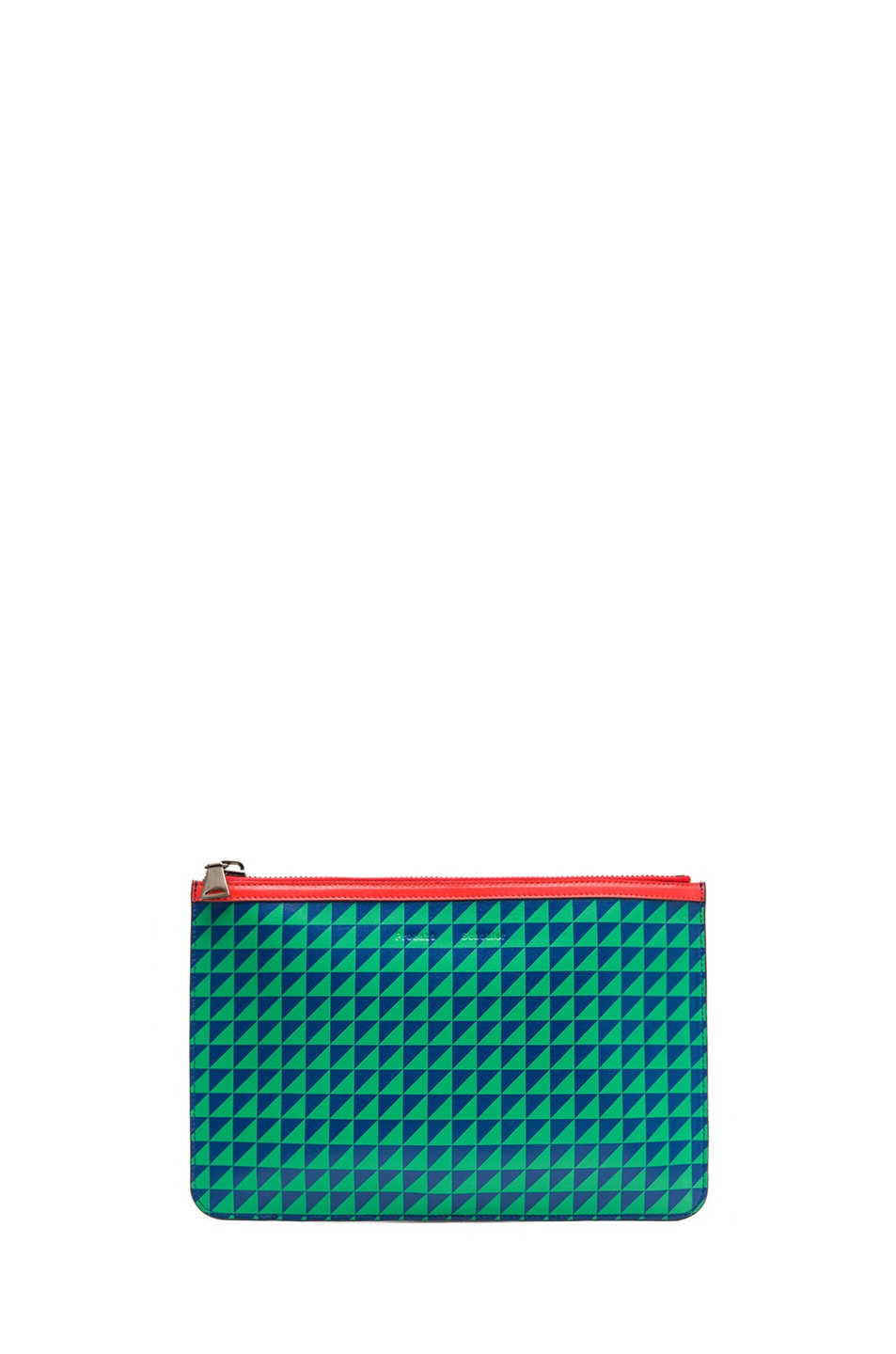 Image 1 of Proenza Schouler Medium Zip Pouch in Royal Blue & Cricket