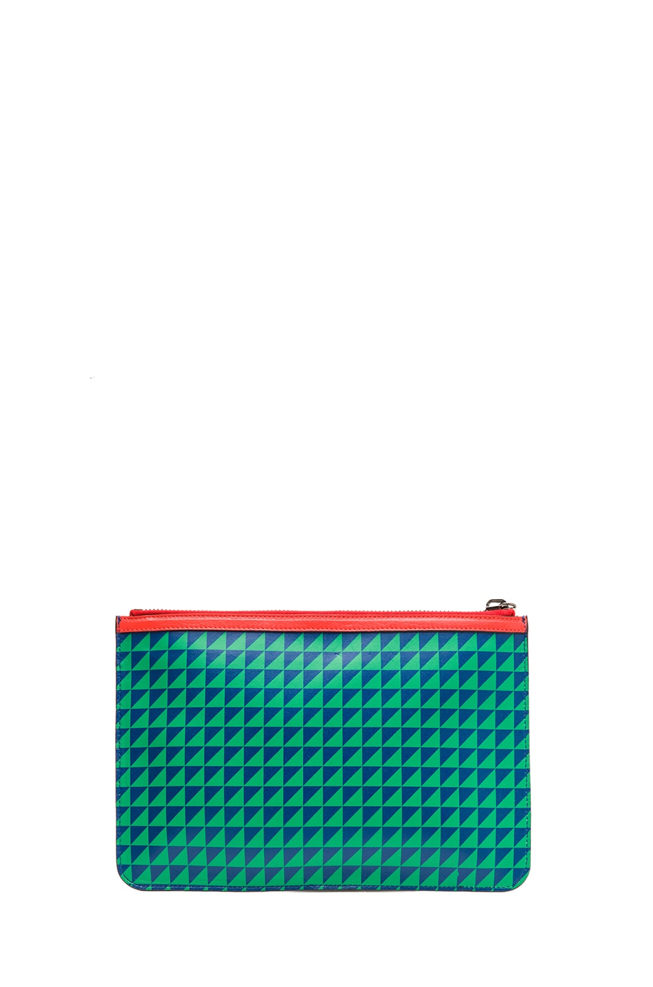 Image 2 of Proenza Schouler Medium Zip Pouch in Royal Blue & Cricket
