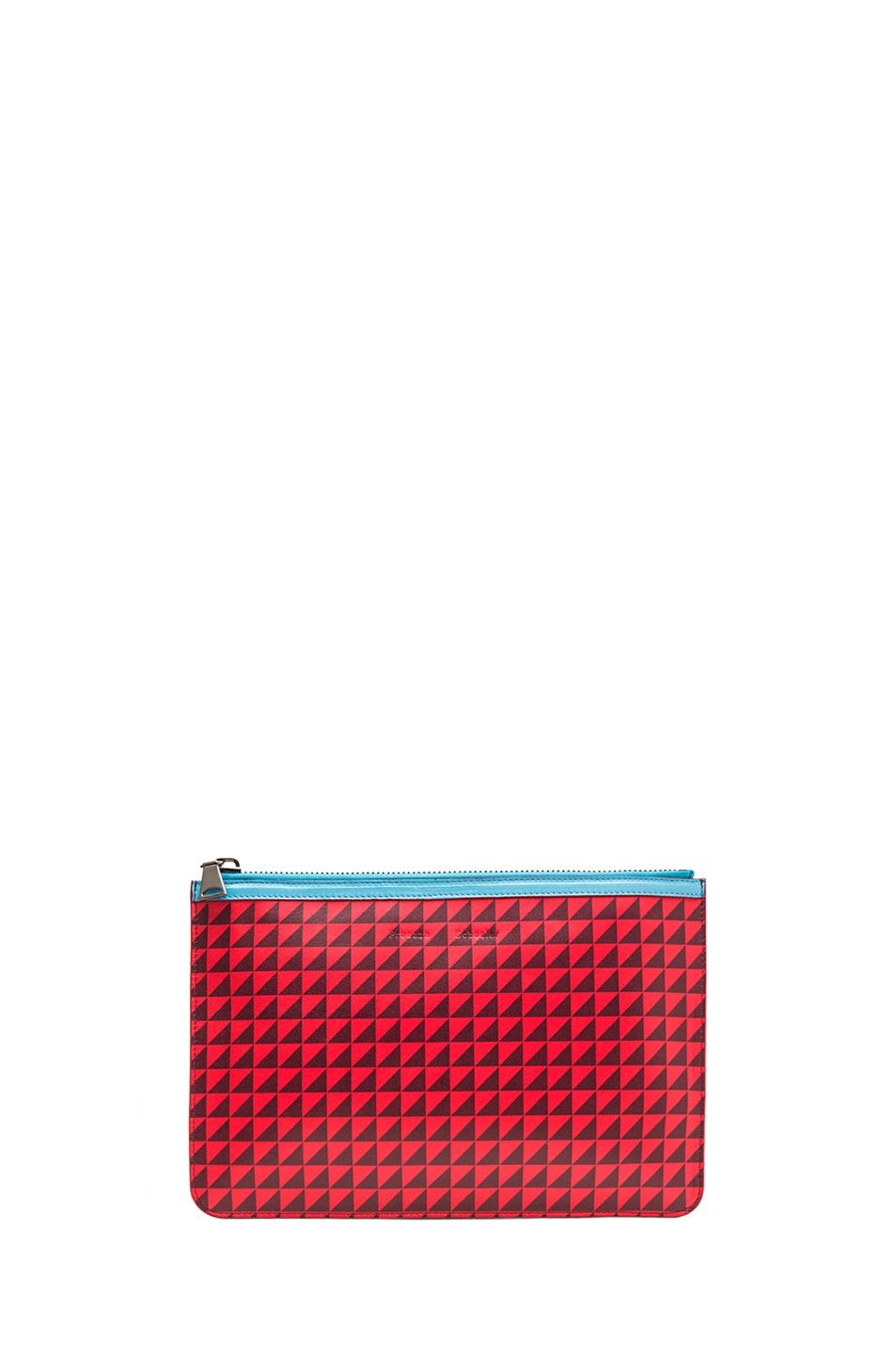 Image 1 of Proenza Schouler Medium Zip Pouch in Poppy & Pinot Noir