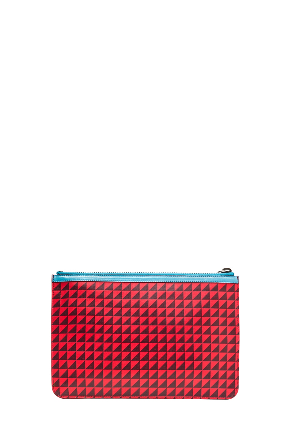Image 2 of Proenza Schouler Medium Zip Pouch in Poppy & Pinot Noir