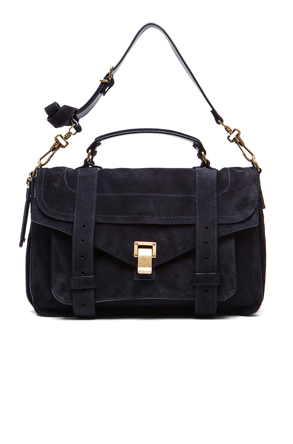 Image 5 of Proenza Schouler Medium PS1 Suede in Navy