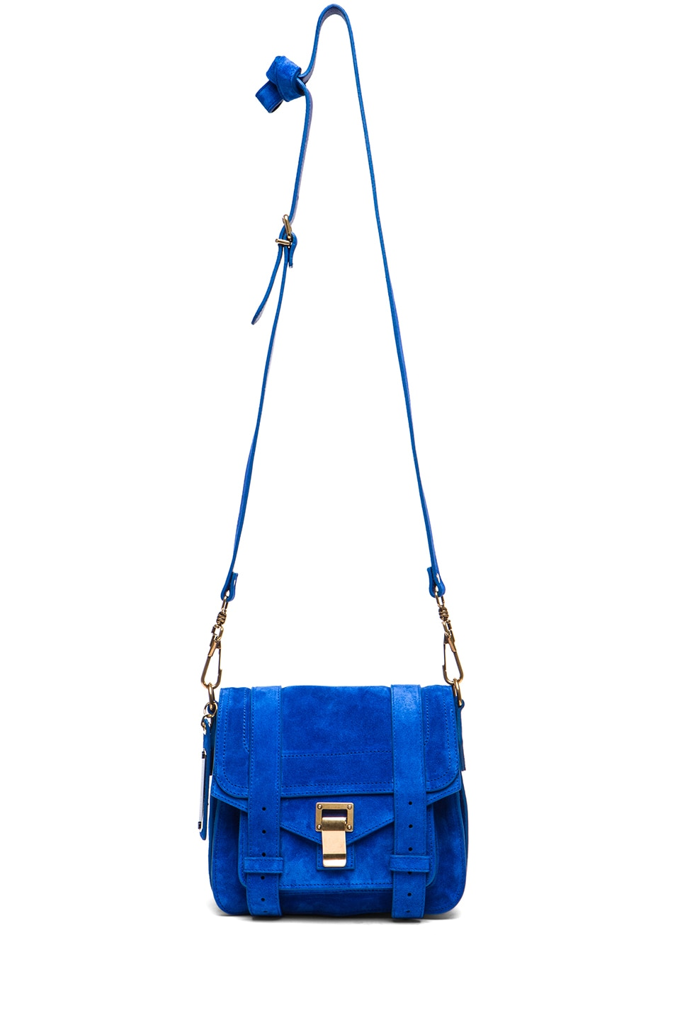Image 5 of Proenza Schouler PS1 Suede Pouch in Royal Blue