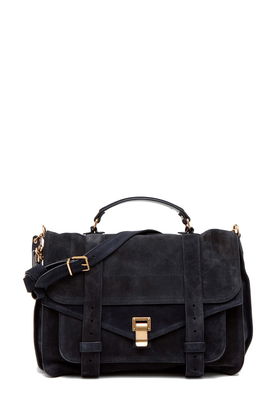 Image 1 of Proenza Schouler PS1 Large Suede  in Navy