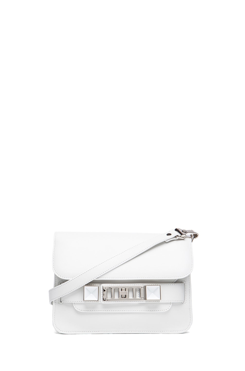 Image 1 of Proenza Schouler Mini PS11 Classic Smooth Leather Shoulder Bag in White