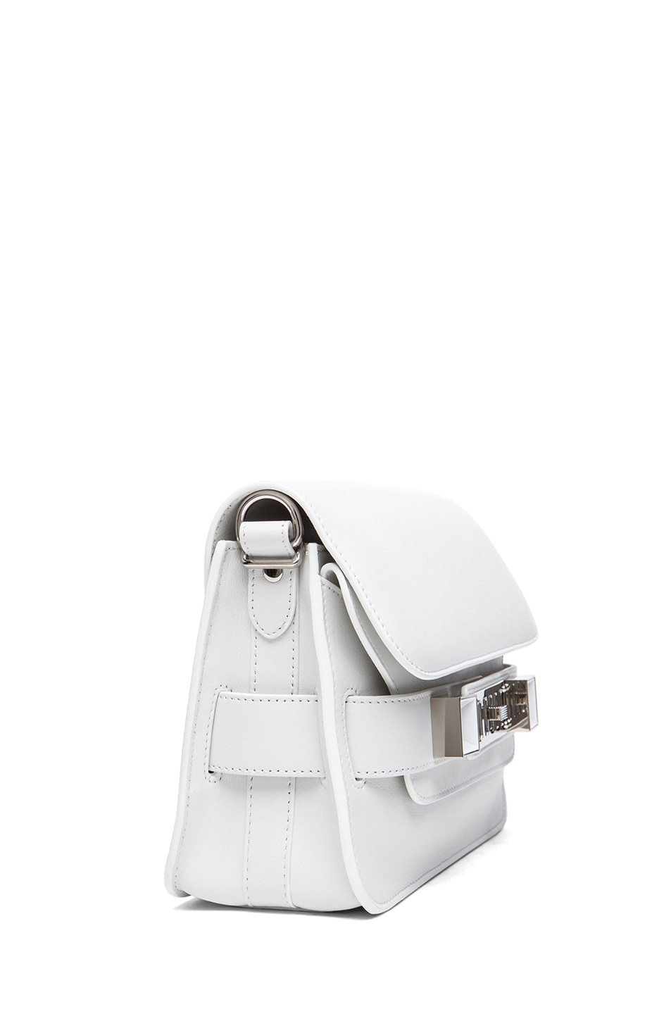 Image 3 of Proenza Schouler Mini PS11 Classic Smooth Leather Shoulder Bag in White