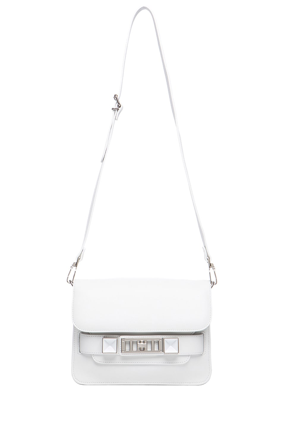 Image 5 of Proenza Schouler Mini PS11 Classic Smooth Leather Shoulder Bag in White
