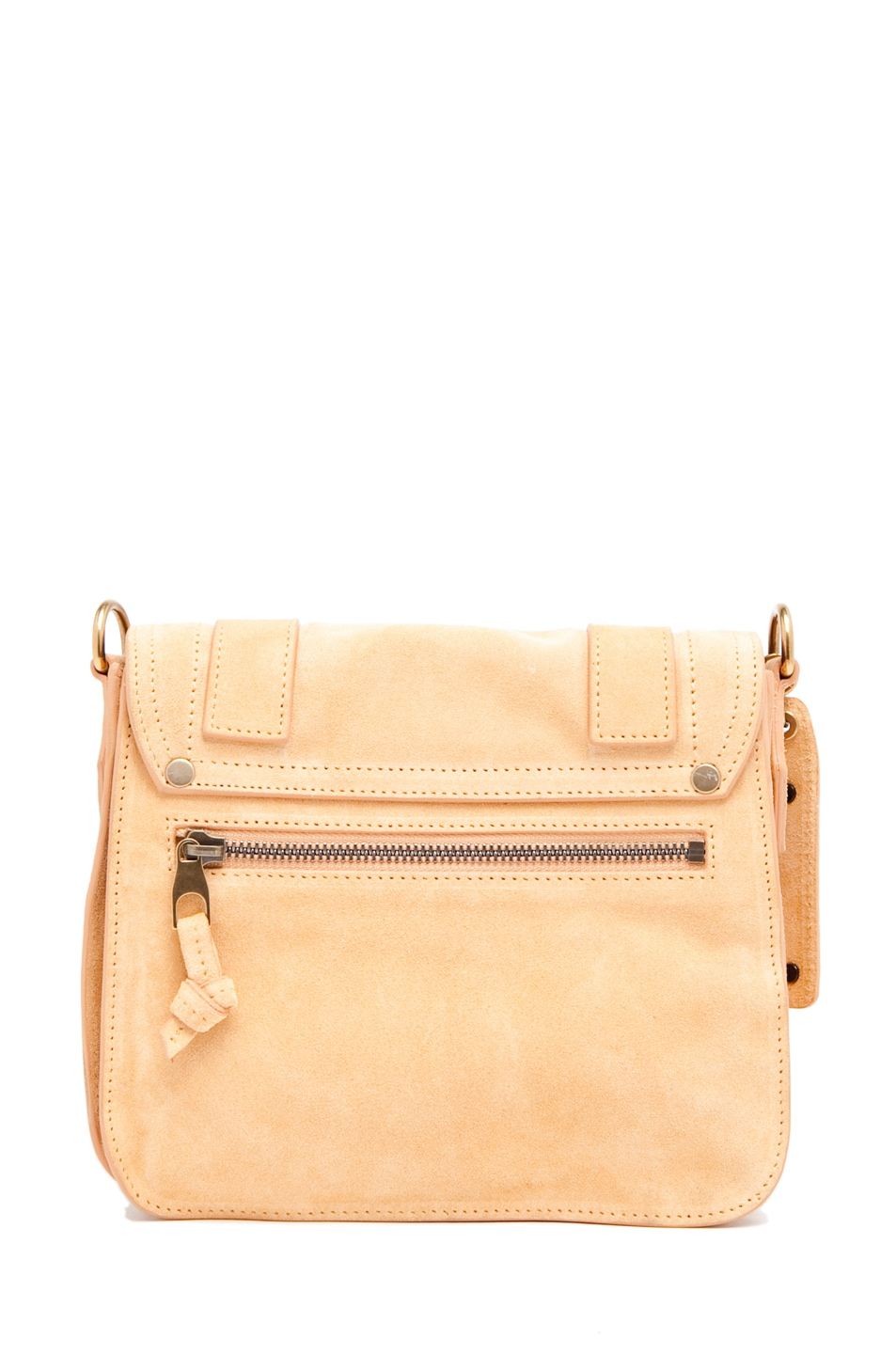 Image 2 of Proenza Schouler PS1 Pouch Suede  in Melon