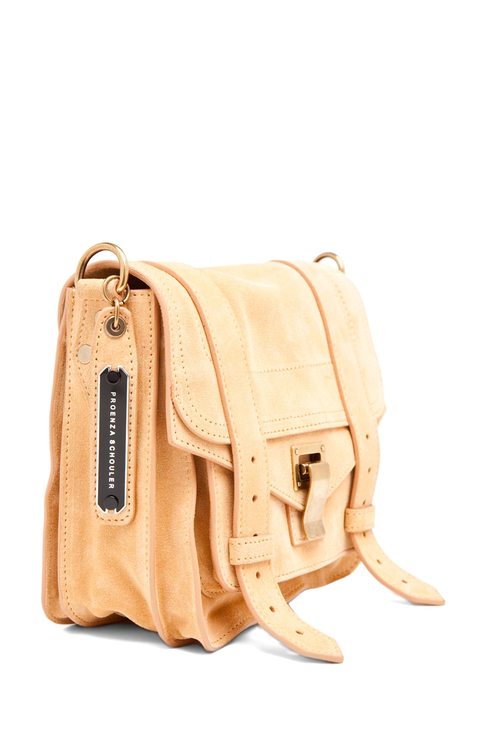 Image 3 of Proenza Schouler PS1 Pouch Suede  in Melon
