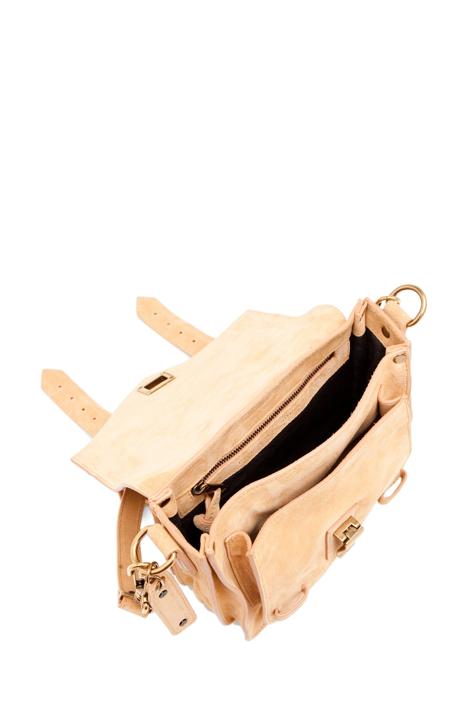 Image 4 of Proenza Schouler PS1 Pouch Suede  in Melon
