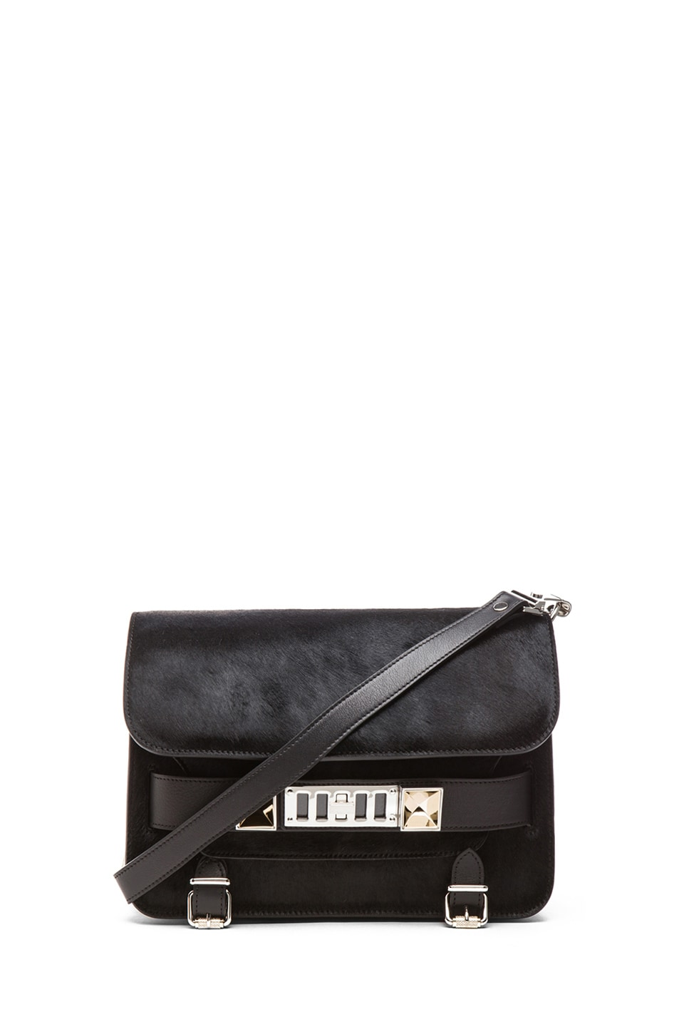 Image 1 of Proenza Schouler PS11 Pony and Leather Classic in Black