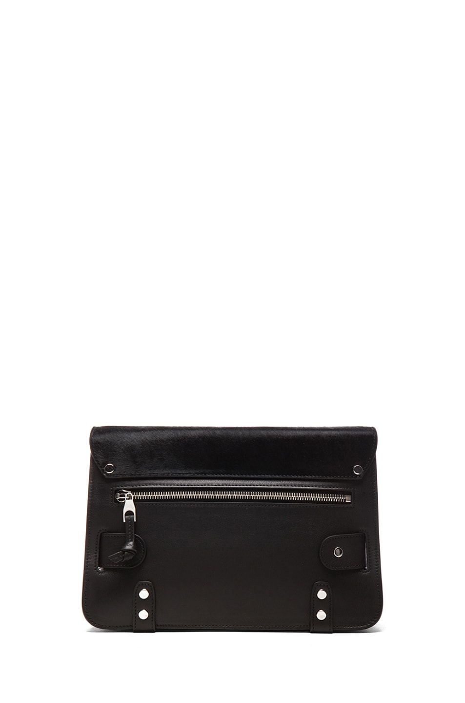 Image 2 of Proenza Schouler PS11 Pony and Leather Classic in Black