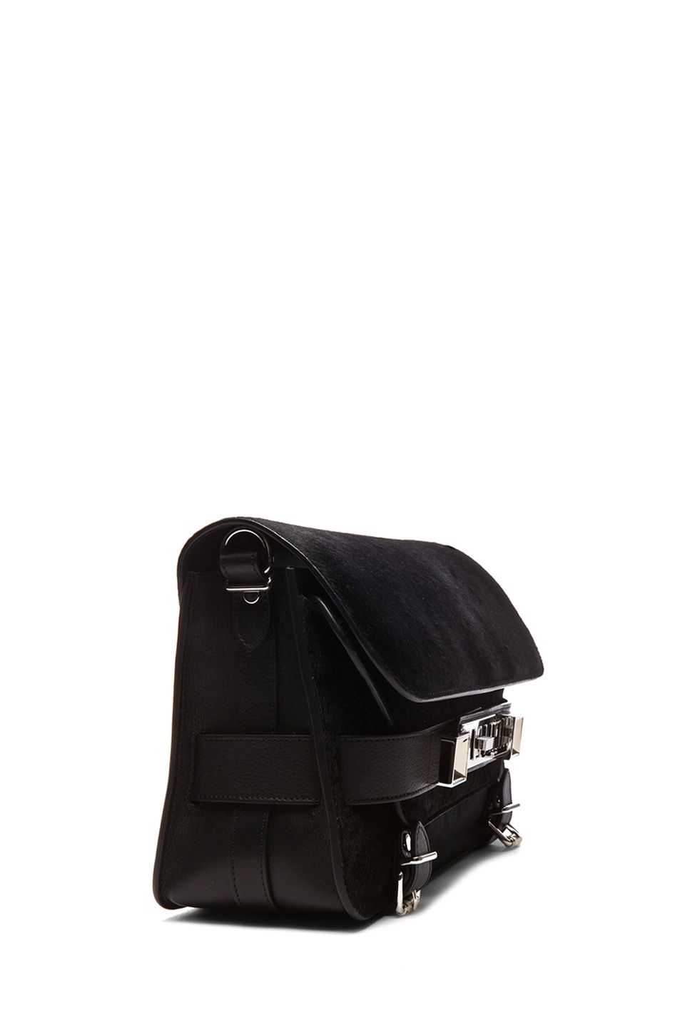 Image 3 of Proenza Schouler PS11 Pony and Leather Classic in Black