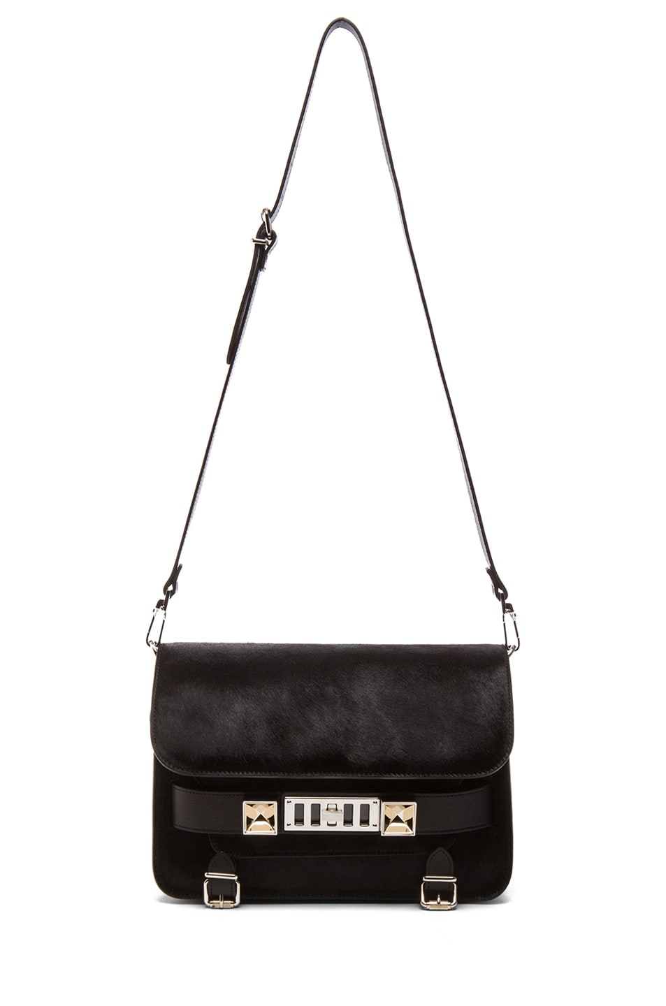 Image 5 of Proenza Schouler PS11 Pony and Leather Classic in Black
