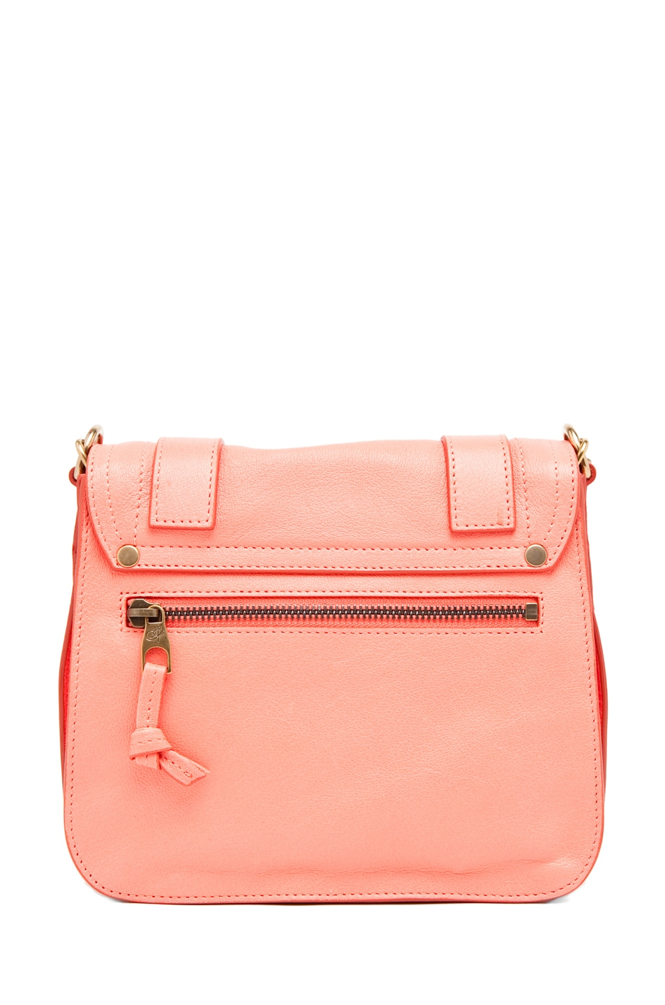 Image 2 of Proenza Schouler PS1 Pouch Leather in Neon Coral