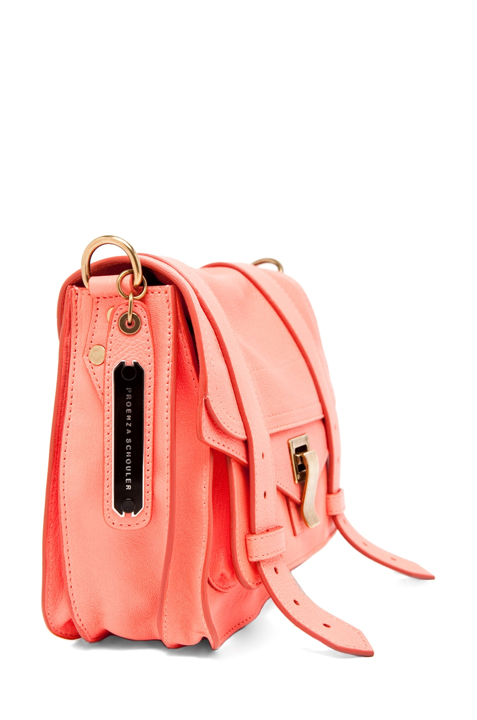 Image 3 of Proenza Schouler PS1 Pouch Leather in Neon Coral
