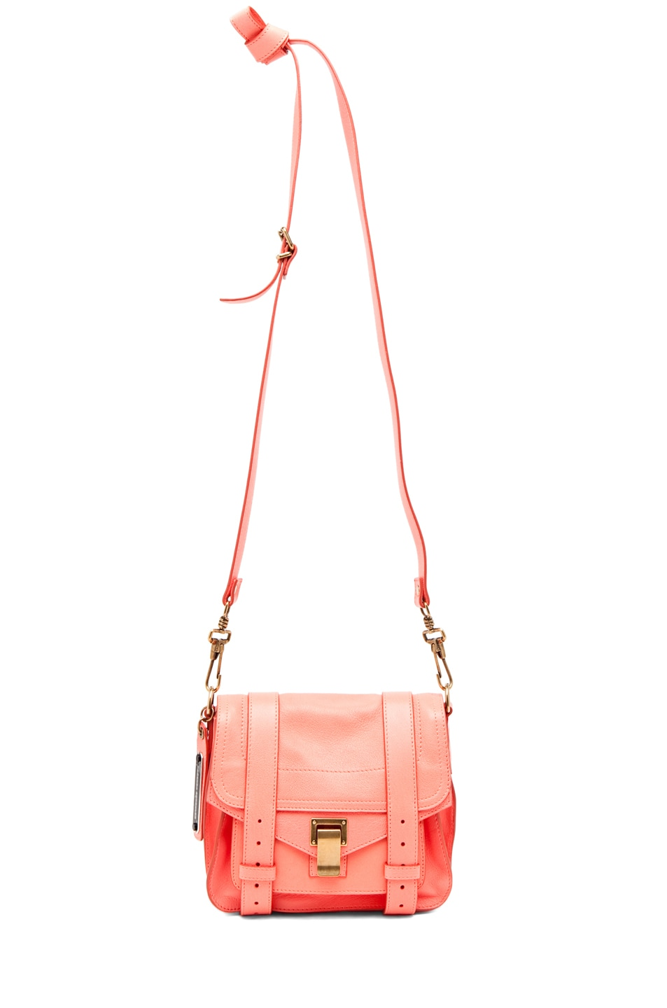 Image 5 of Proenza Schouler PS1 Pouch Leather in Neon Coral