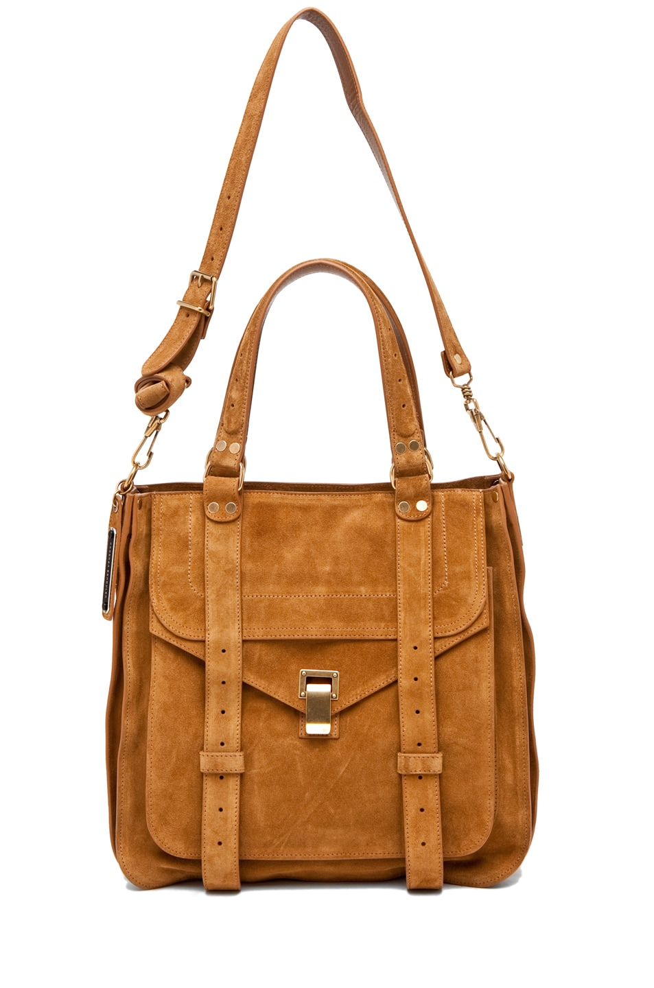 Image 5 of Proenza Schouler PS1 Tote Suede  in Tobacco