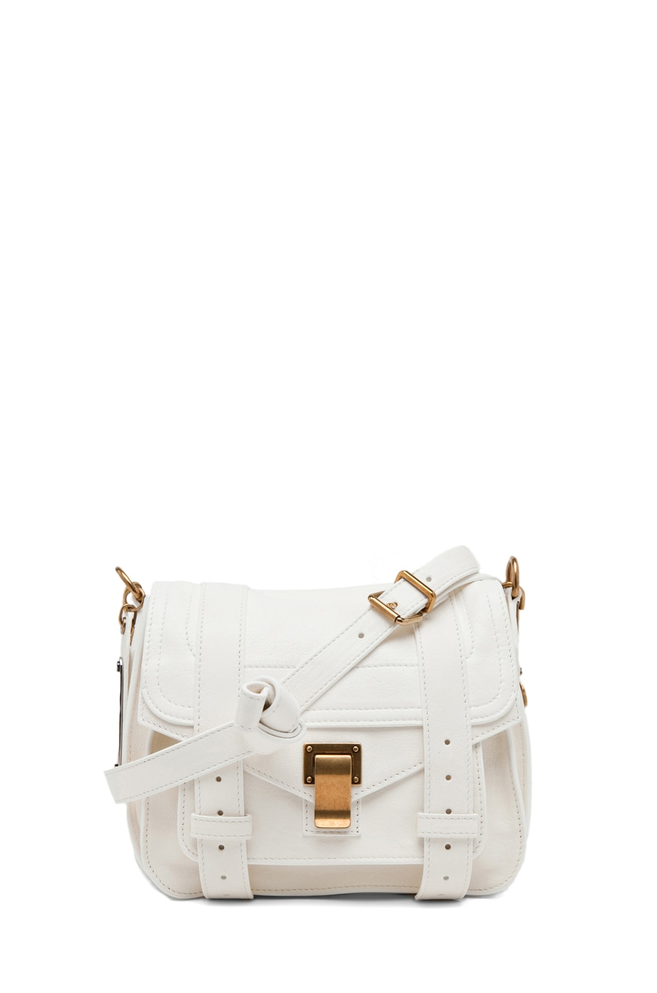 Image 1 of Proenza Schouler PS1 Leather Pouch in White