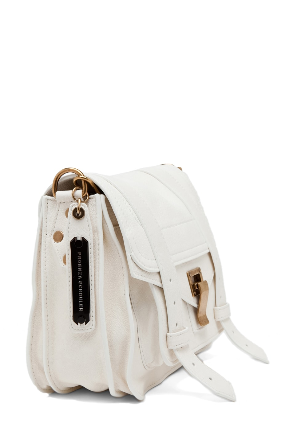 Image 3 of Proenza Schouler PS1 Leather Pouch in White