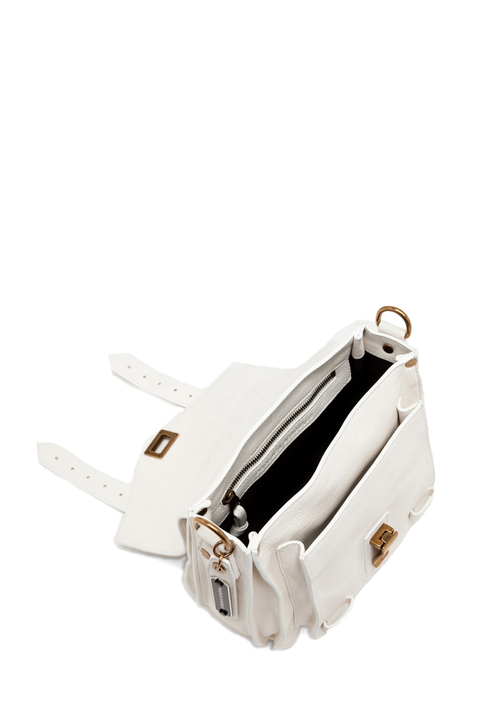 Image 4 of Proenza Schouler PS1 Leather Pouch in White