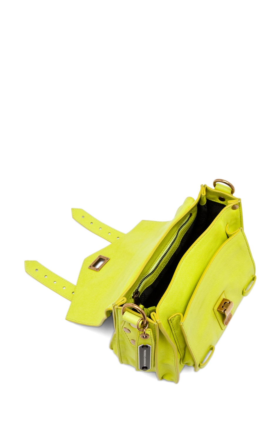 Image 4 of Proenza Schouler PS1 Pouch Leather in Citron
