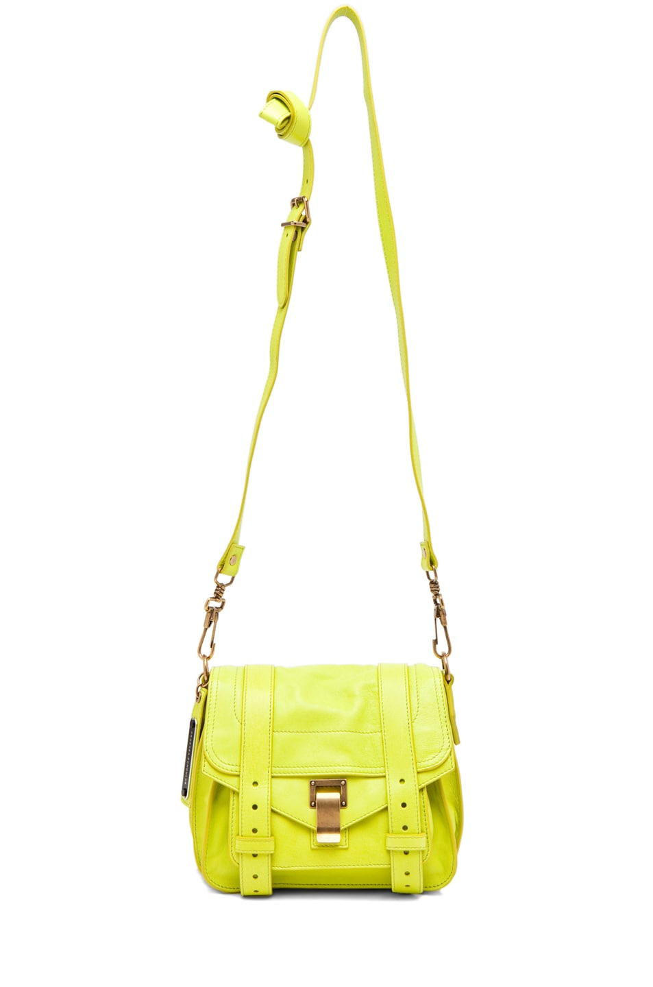 Image 5 of Proenza Schouler PS1 Pouch Leather in Citron
