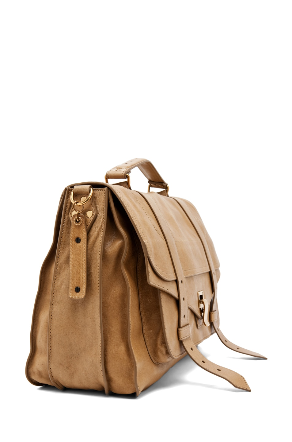 Image 3 of Proenza Schouler Large PS1 Leather in Bronze