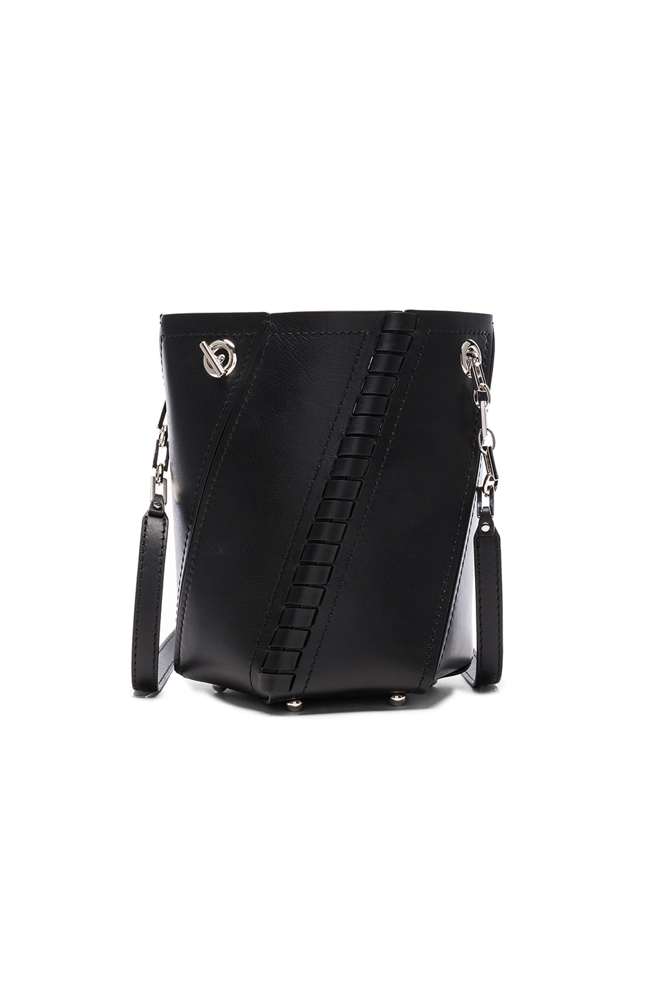 Image 1 of Proenza Schouler Crossbody Hex Bucket Whipstitch Leather in Black