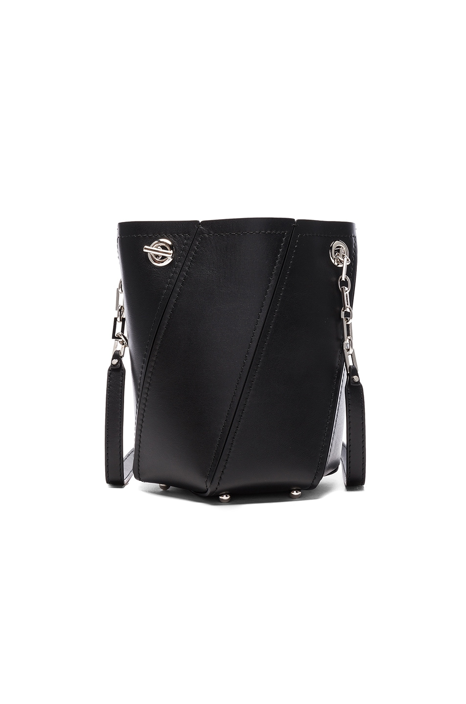 Image 2 of Proenza Schouler Crossbody Hex Bucket Whipstitch Leather in Black