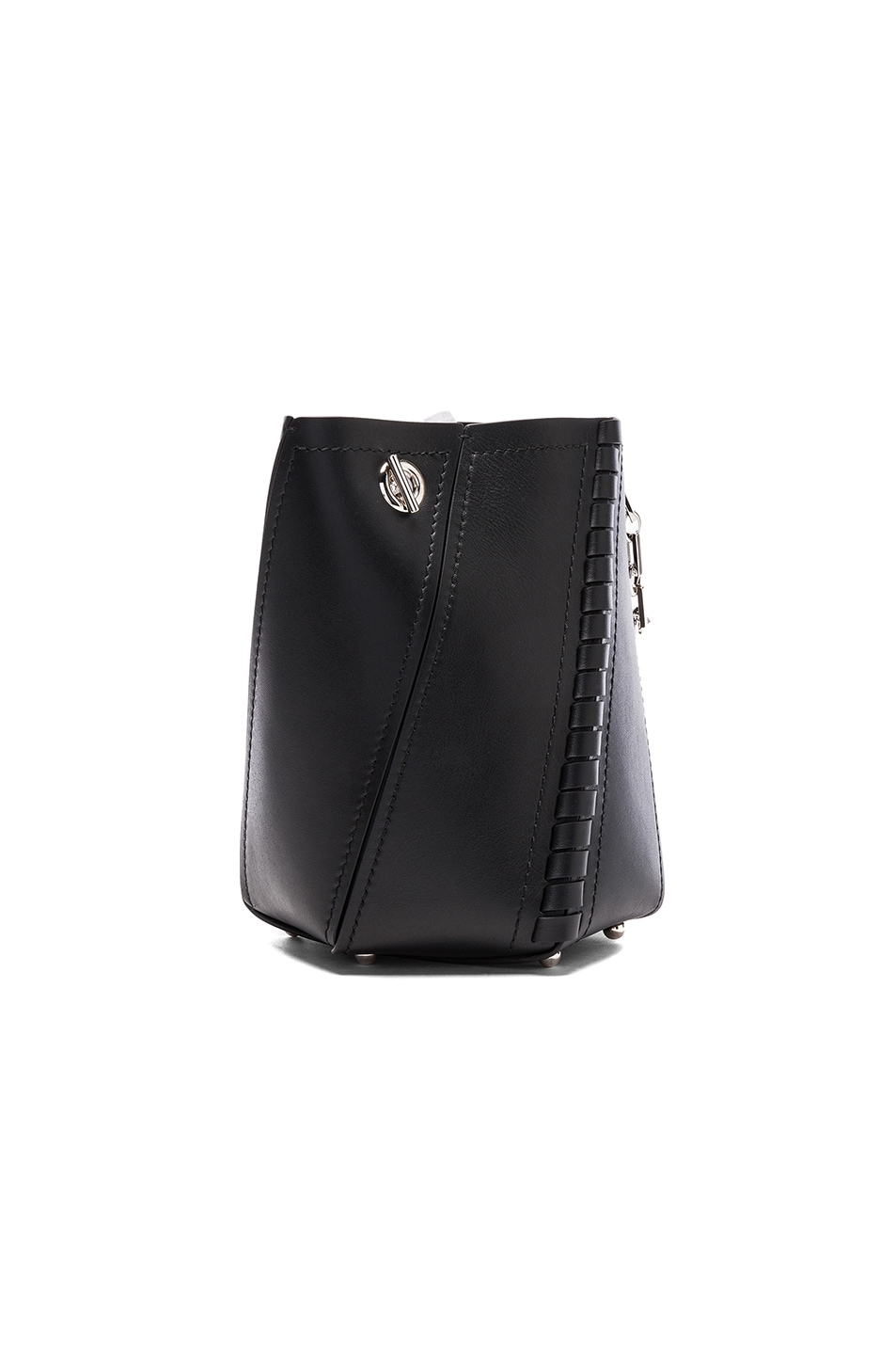 Image 3 of Proenza Schouler Crossbody Hex Bucket Whipstitch Leather in Black