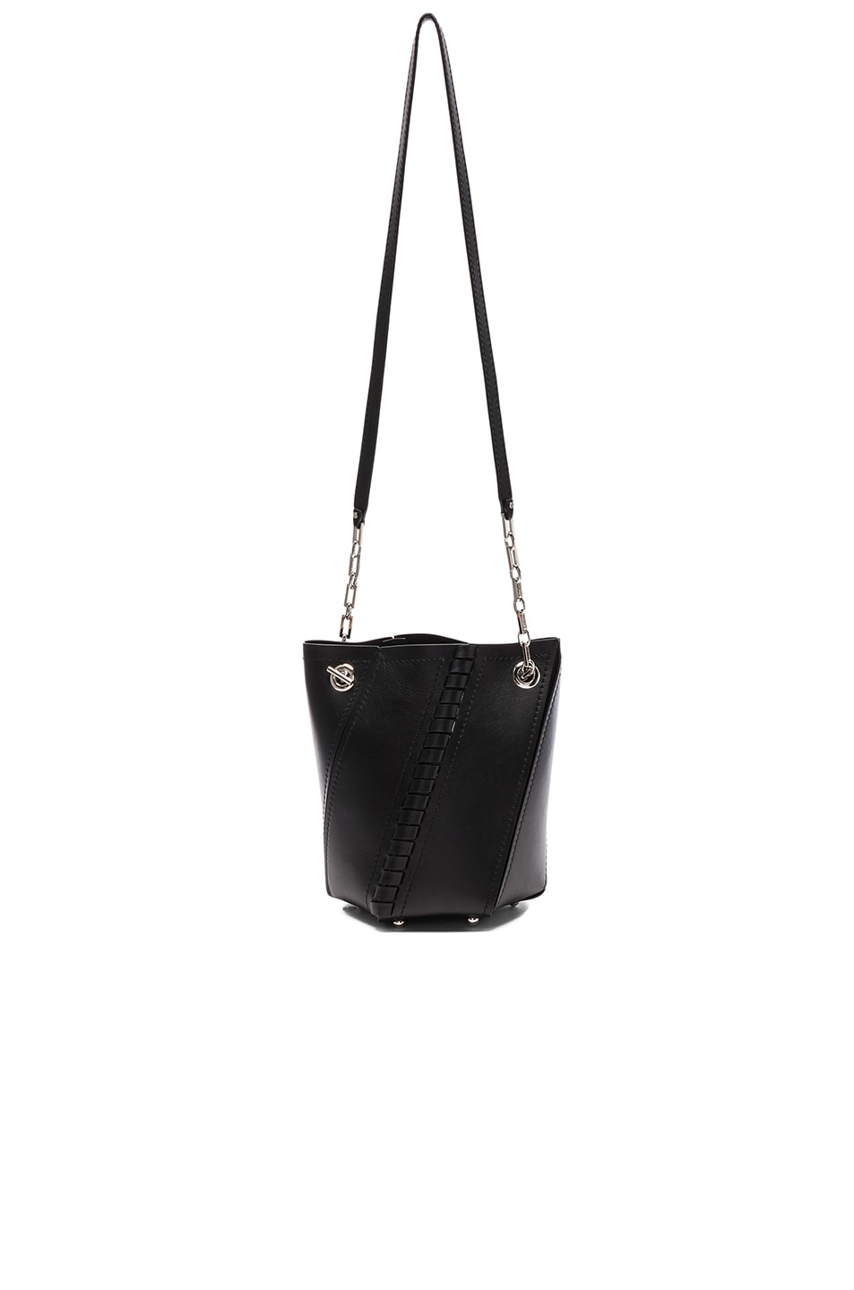 Image 5 of Proenza Schouler Crossbody Hex Bucket Whipstitch Leather in Black