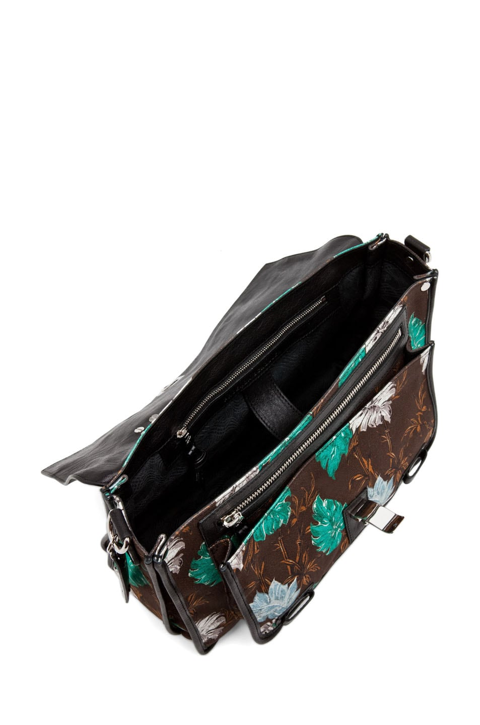 Image 4 of Proenza Schouler PS1 Medium Printed Floral Canvas in Sea Green
