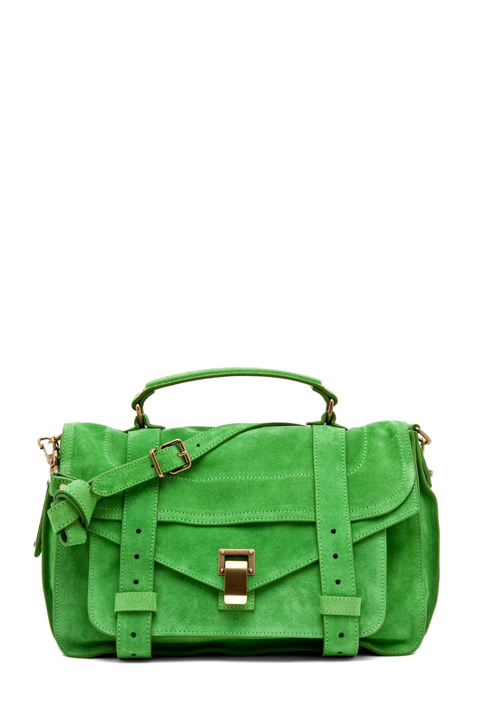 Image 1 of Proenza Schouler PS1 Medium Suede in Tropical Green