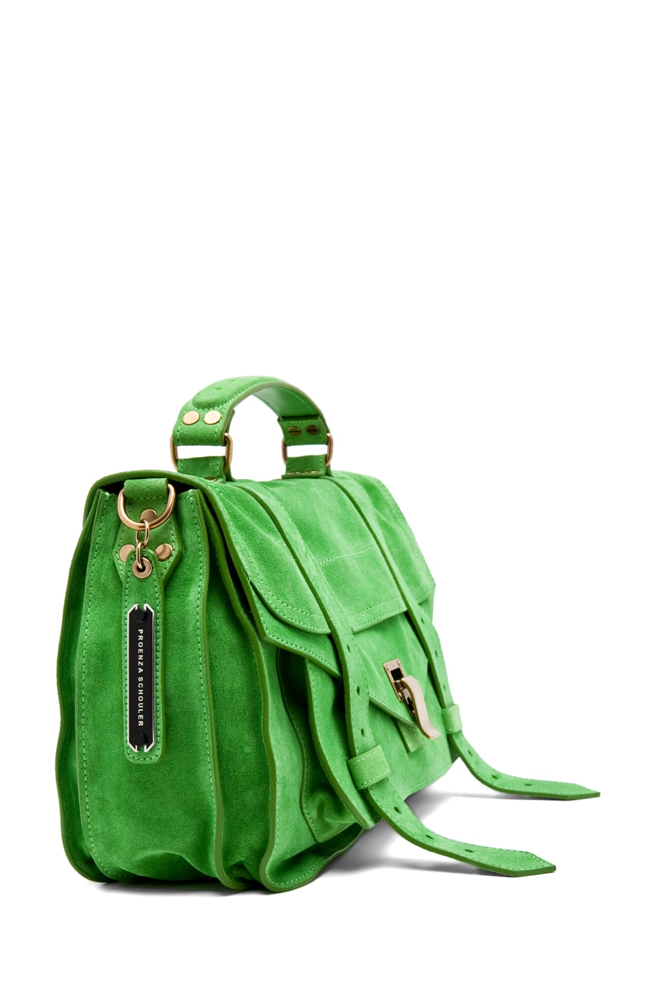 Image 3 of Proenza Schouler PS1 Medium Suede in Tropical Green