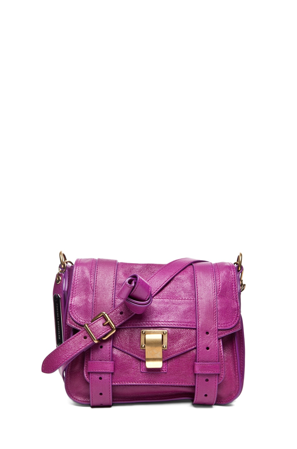 Image 1 of Proenza Schouler PS1 Pouch Leather in Orchid