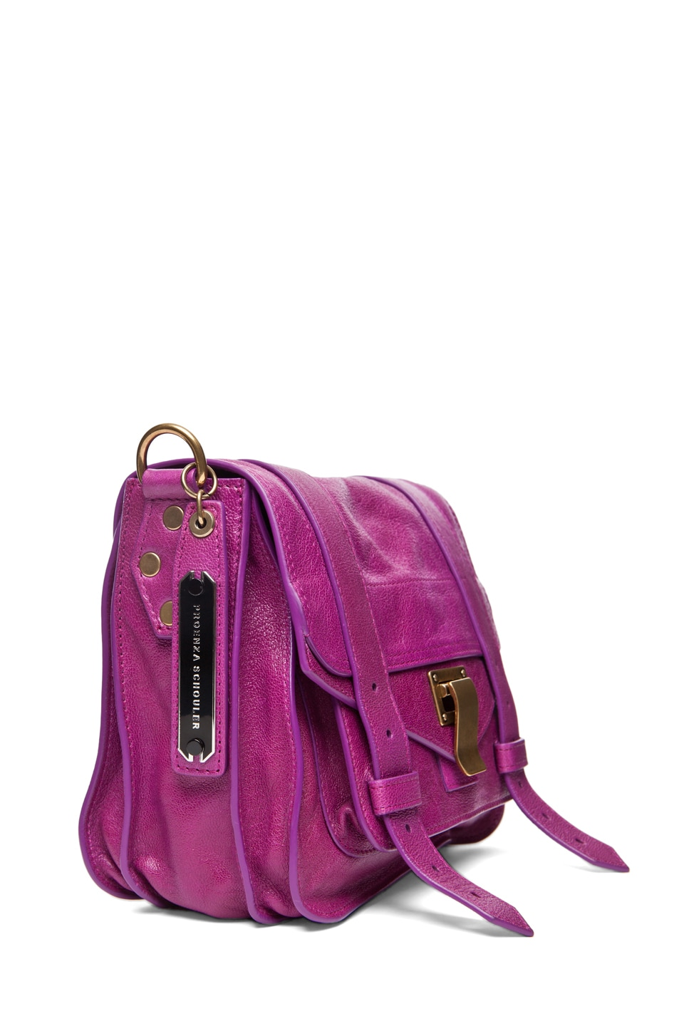 Image 3 of Proenza Schouler PS1 Pouch Leather in Orchid