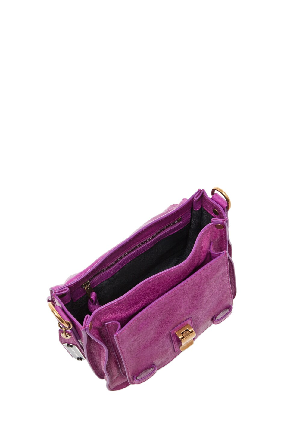Image 4 of Proenza Schouler PS1 Pouch Leather in Orchid