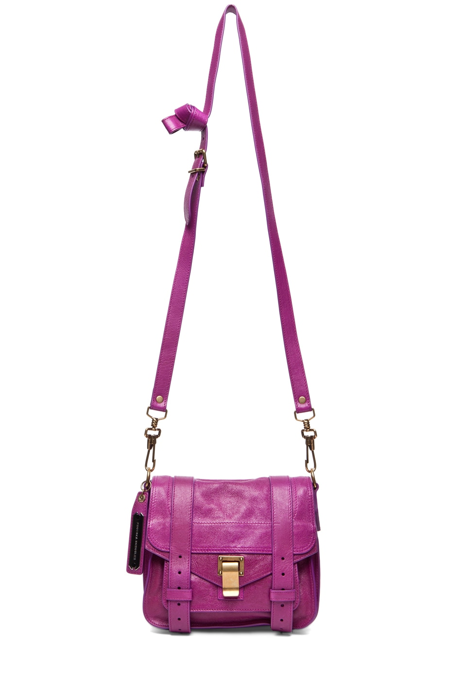 Image 5 of Proenza Schouler PS1 Pouch Leather in Orchid
