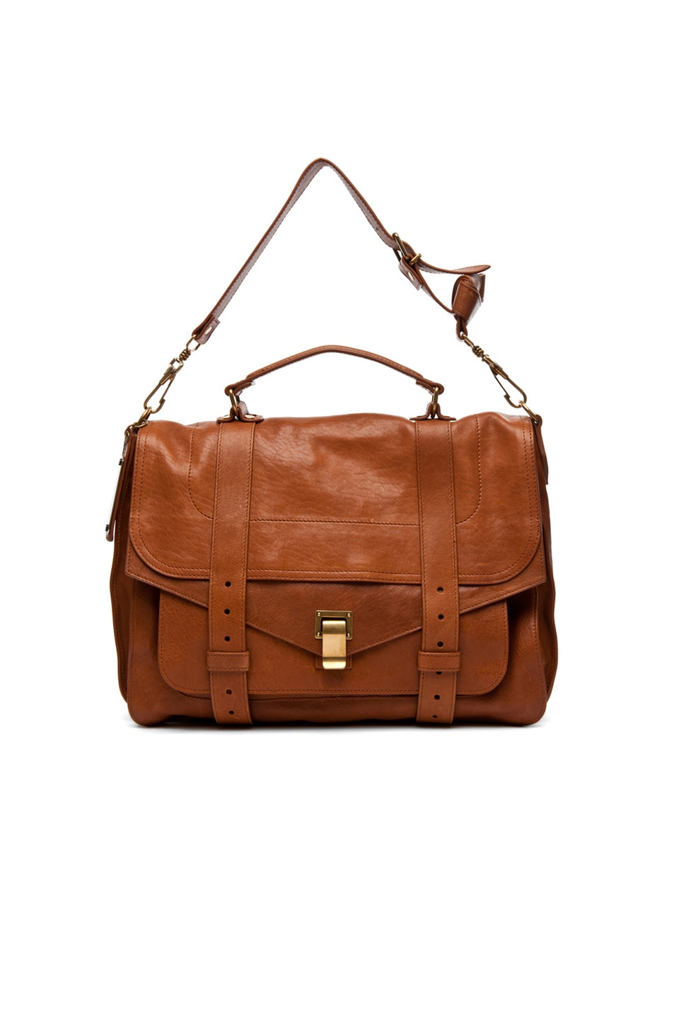 Image 6 of Proenza Schouler Large PS1 Leather in Saddle