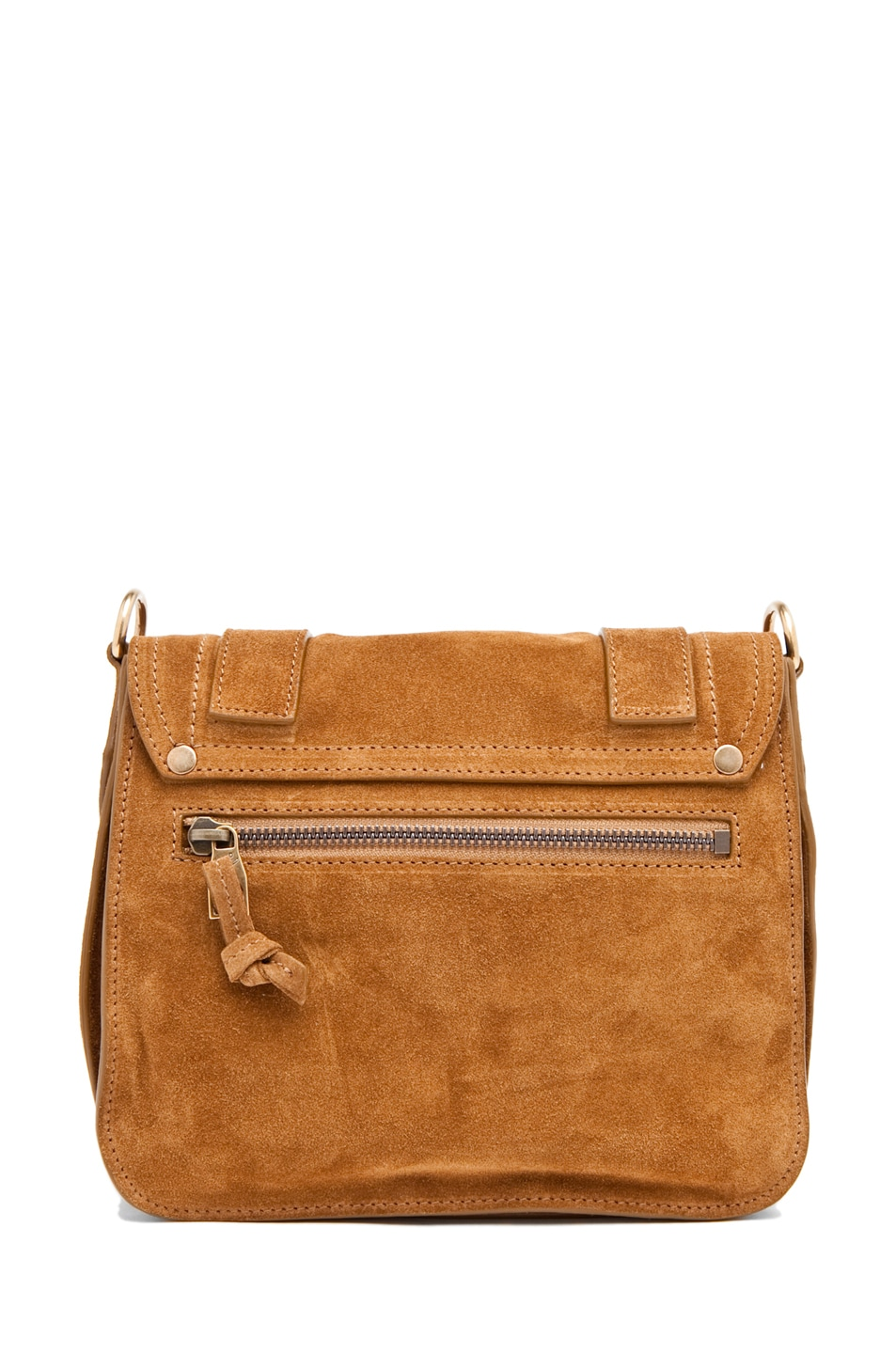 Image 2 of Proenza Schouler PS1 Pouch Suede  in Tobacco