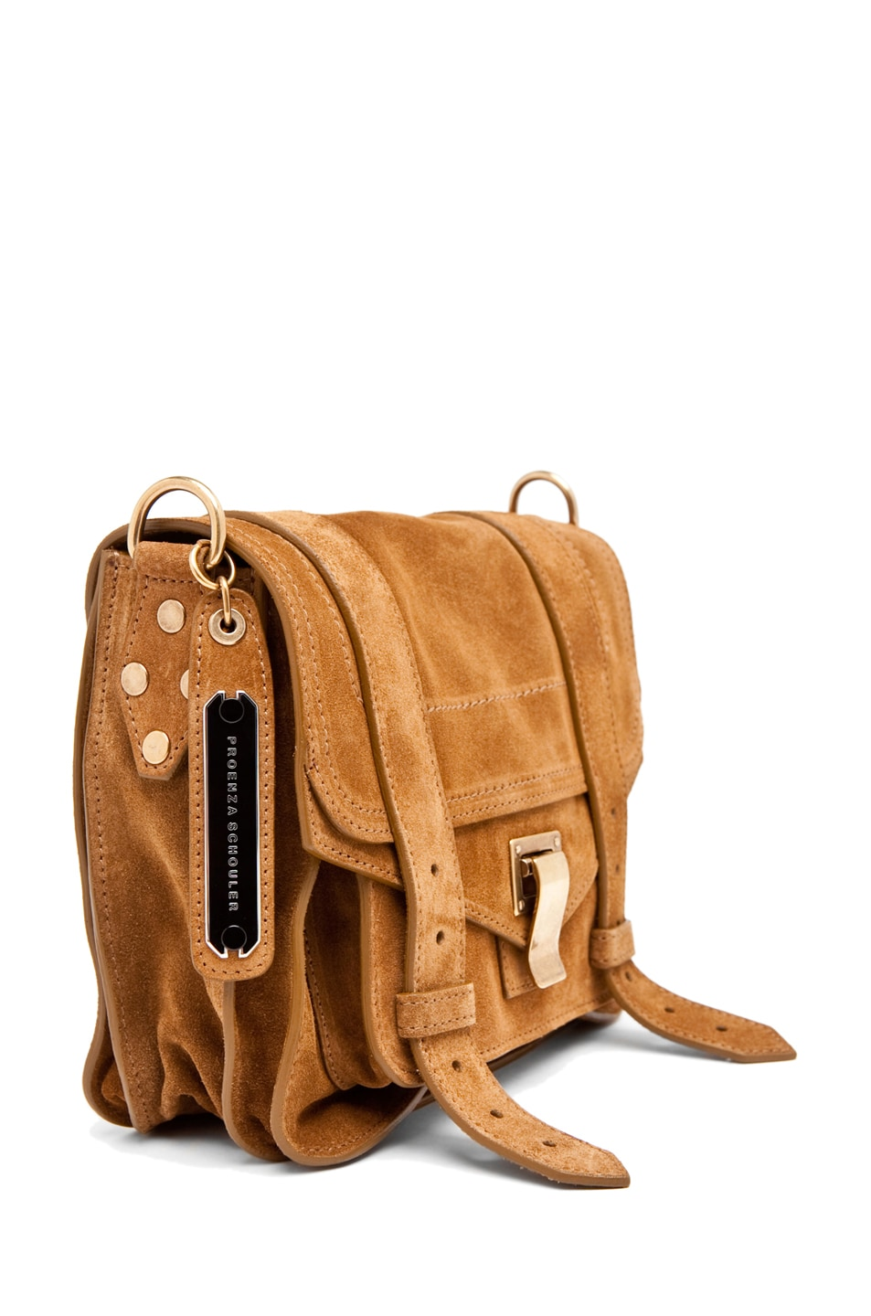 Image 3 of Proenza Schouler PS1 Pouch Suede  in Tobacco