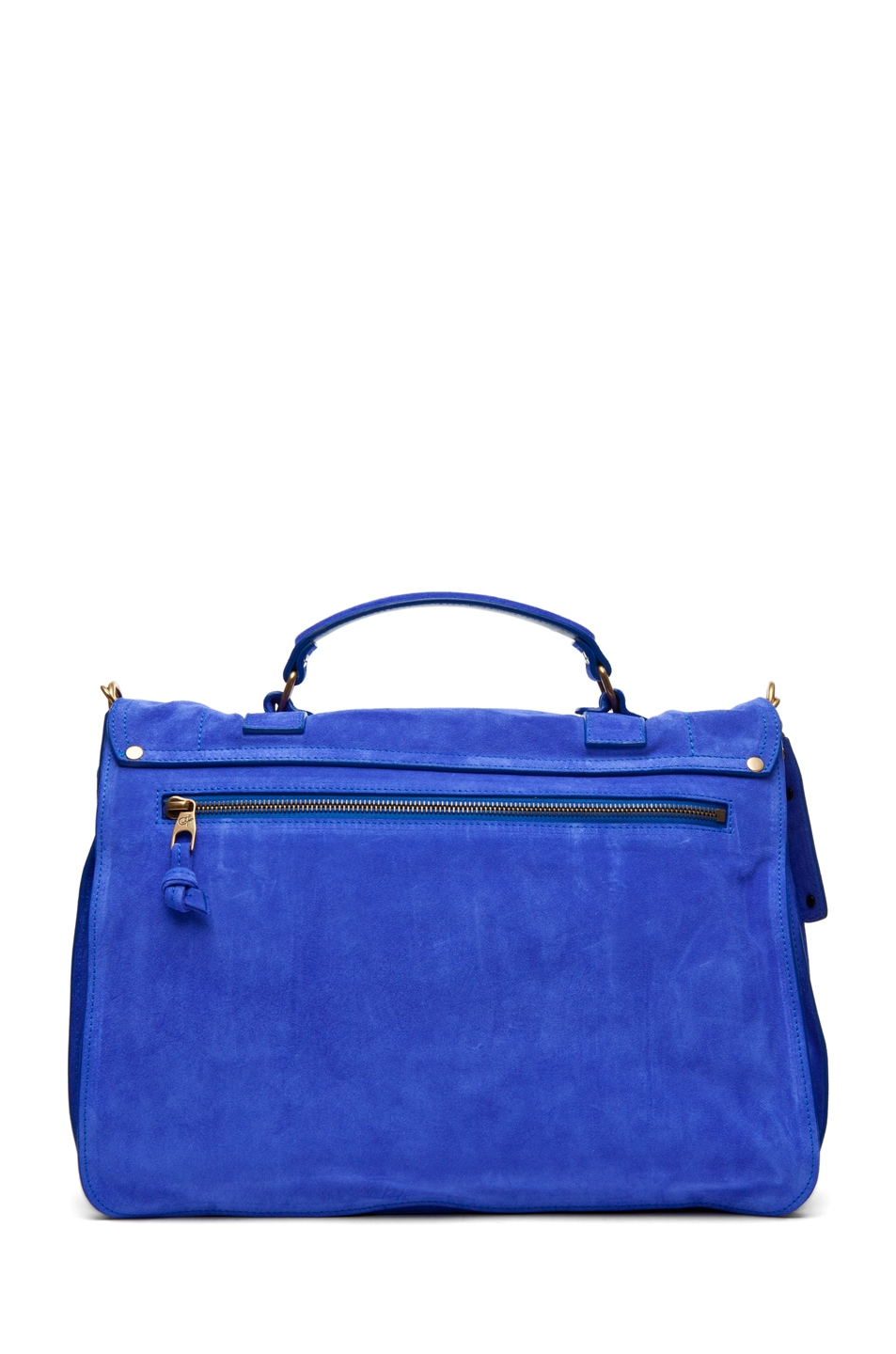 Image 2 of Proenza Schouler PS1 Large Suede  in Cobalt