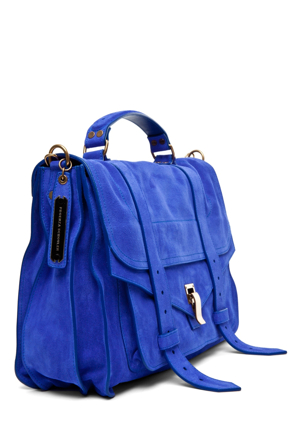 Image 3 of Proenza Schouler PS1 Large Suede  in Cobalt
