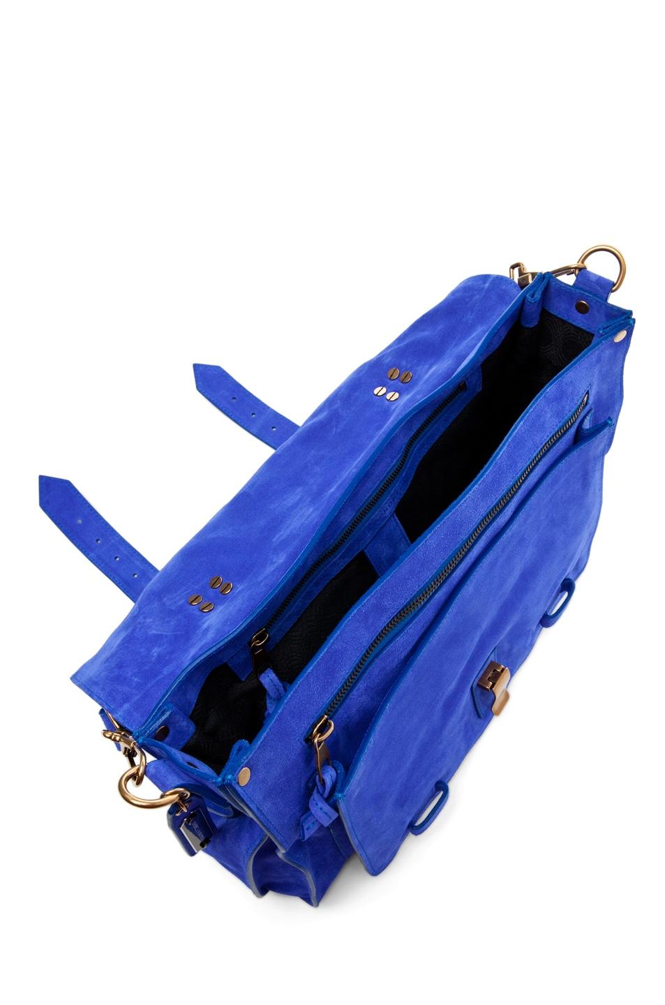 Image 4 of Proenza Schouler PS1 Large Suede  in Cobalt